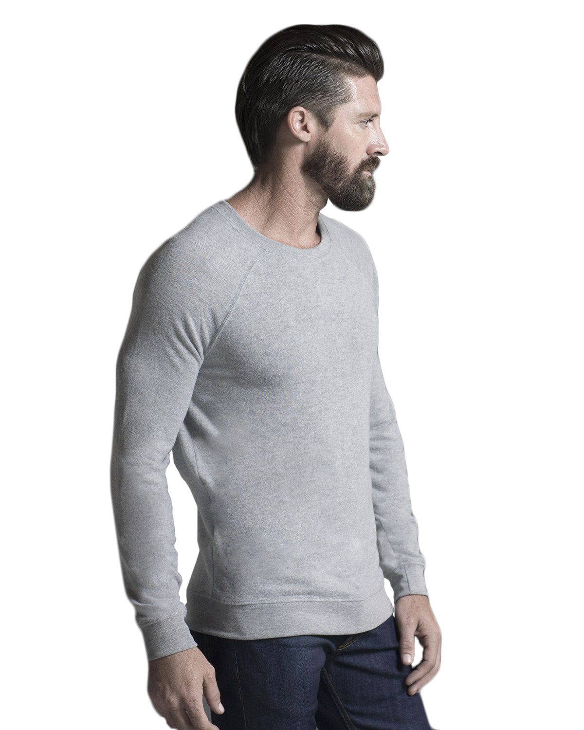 Knit Pullover: Light Gray