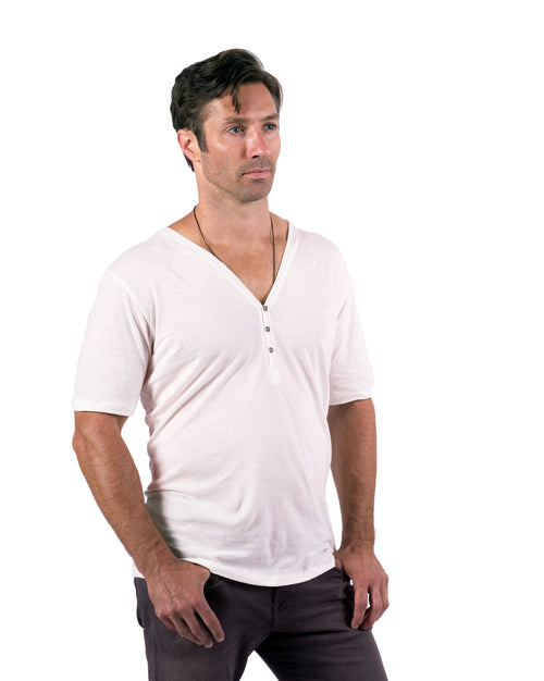Henley Tee: Natural White