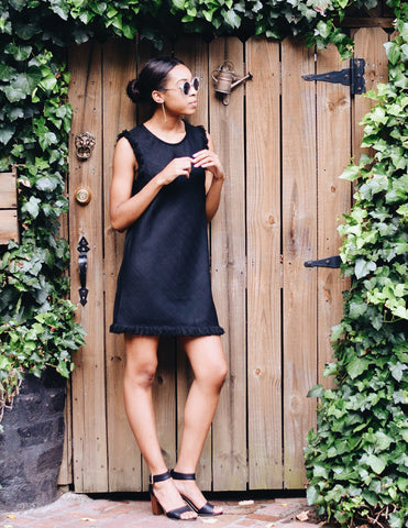 Black Cocktail Shift Dress