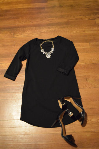 Cocktail Outfit with Classic Black Tunic