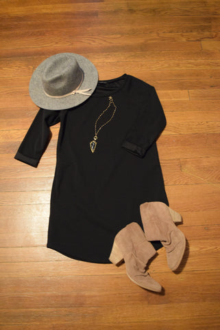 Boho Chic outfit with black tunic