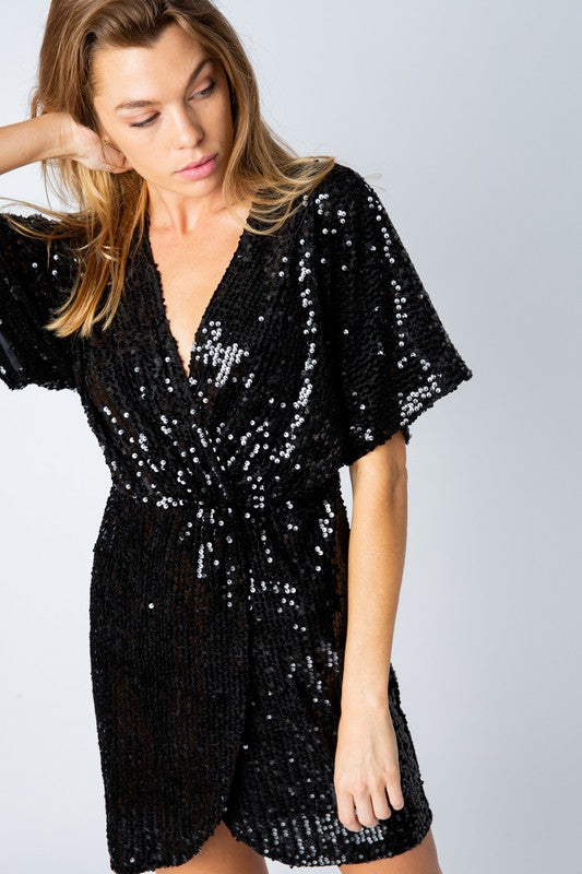 Black Sequin Mini Dress - Dress - Baevely - MOD&SOUL