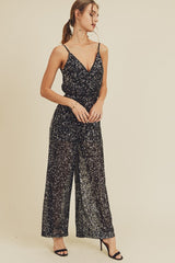 Black Sequin Jumpsuit - Jumpsuit - in loom - MOD&SOUL