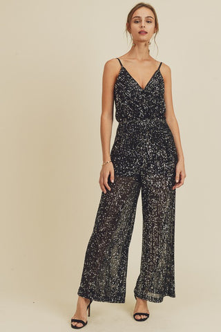 Smocked Square Neckline Jumpsuit