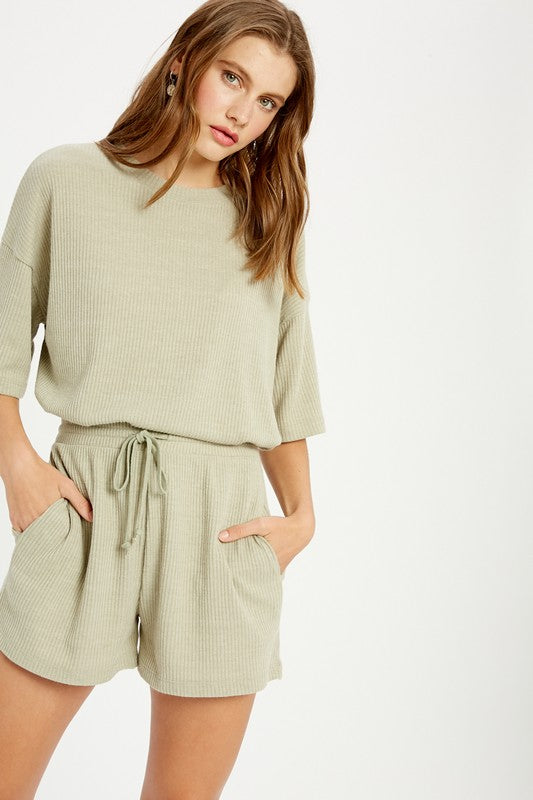 Ribbed Two Piece Set - Olive - set - wishlist - MOD&SOUL