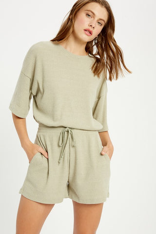 Pleated Layered Jumpsuit