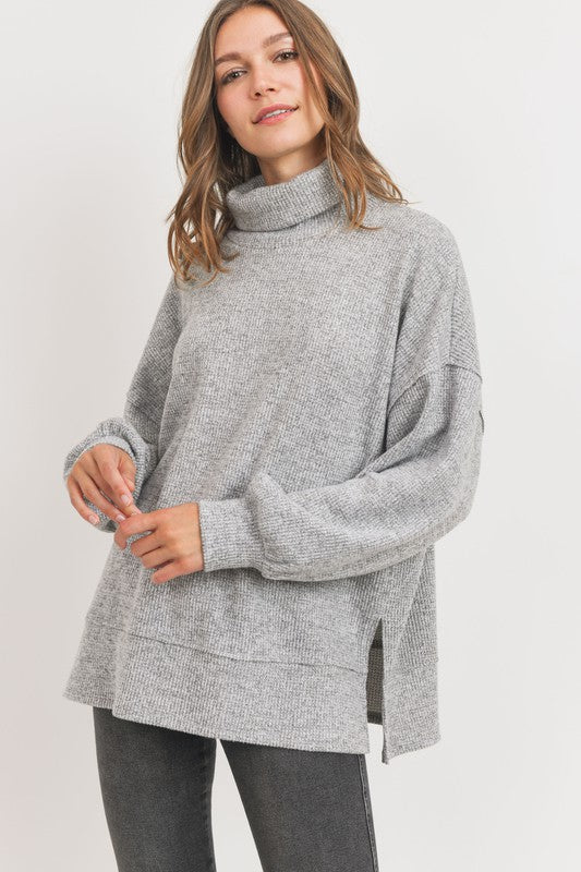 Turtleneck Thermal Knit Top - Top - cherish - MOD&SOUL