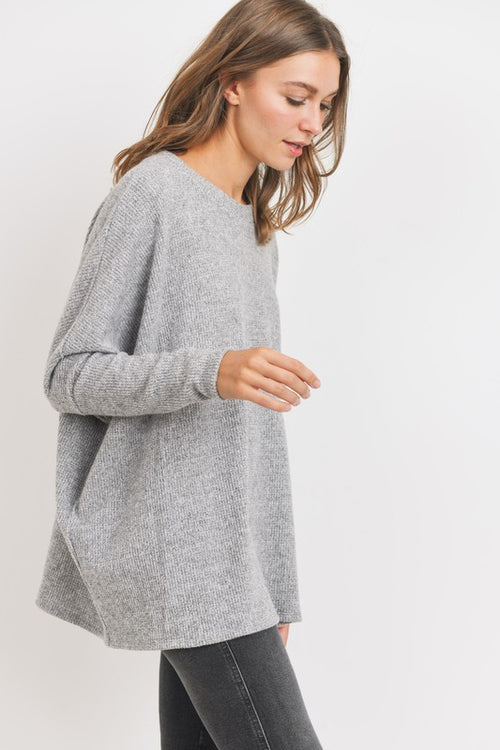 Round Neck Thermal Top - GREY - Top - cherish - MOD&SOUL