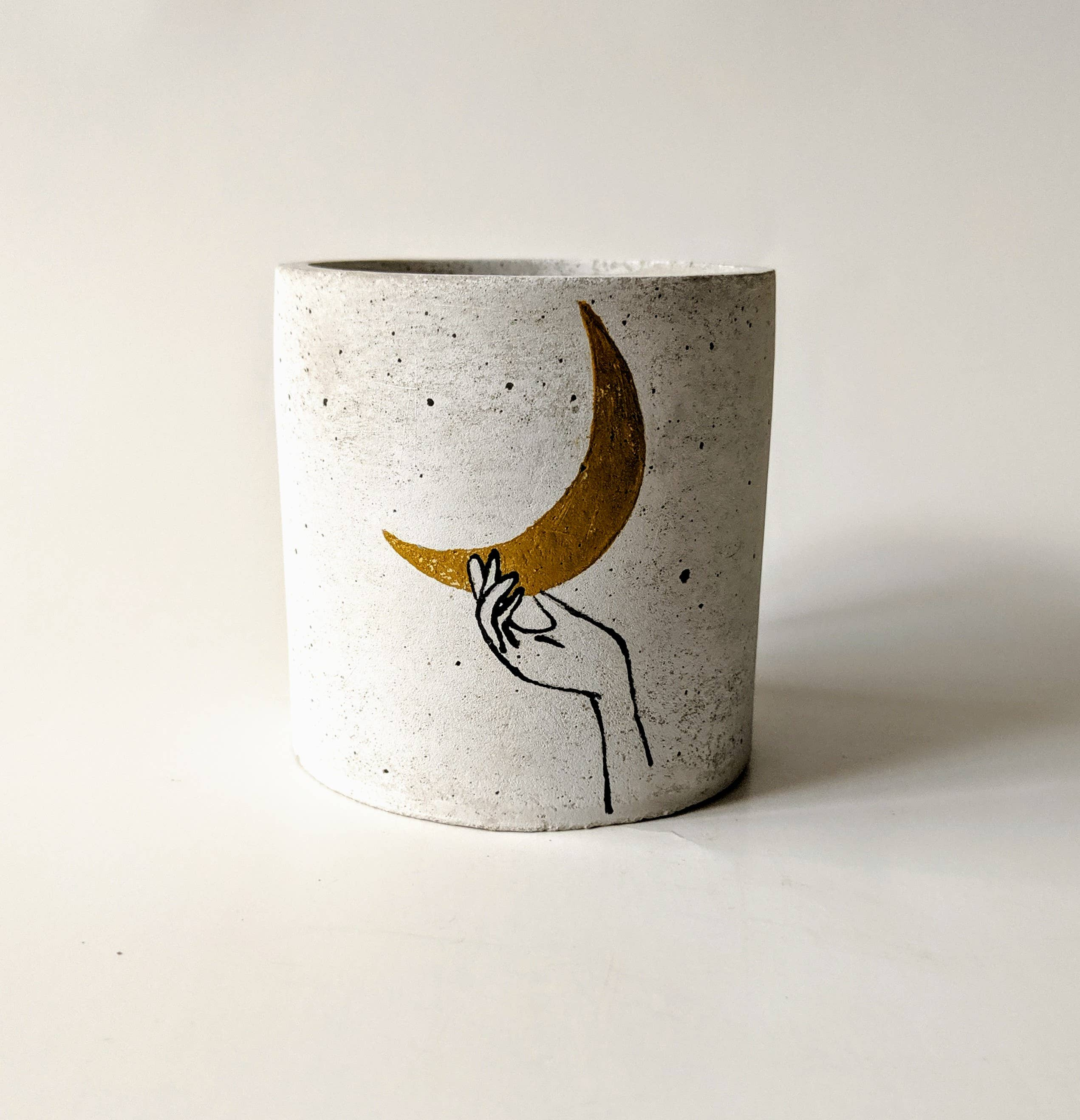 """Give You The Moon"" Concrete Planter - home - ForgottenProperty - MOD&SOUL"