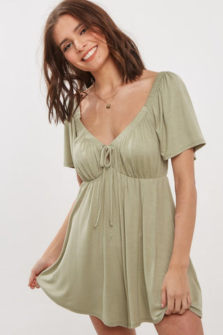 Dolman Shift Dress - Olive