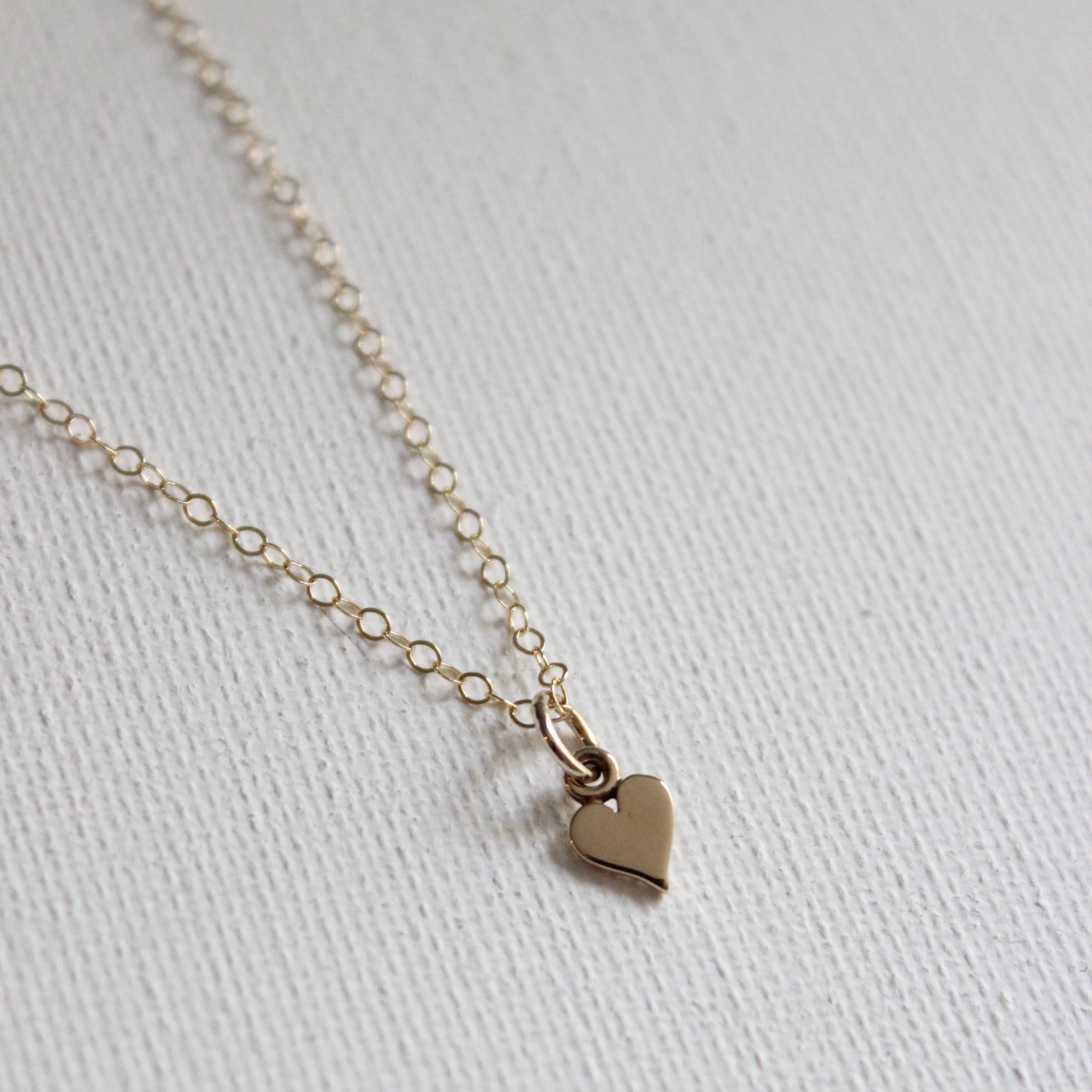 Mini Heart Charm Necklace - Necklace - Katie Waltman Jewelry - MOD&SOUL