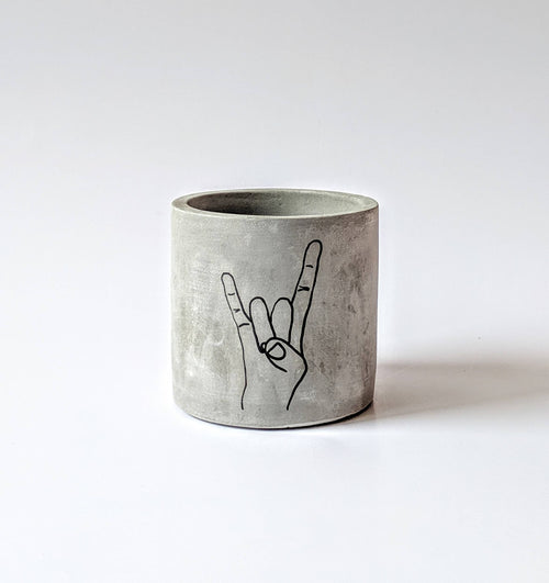 ForgottenProperty - Peace Out Concrete Planter - home - ForgottenProperty - MOD&SOUL