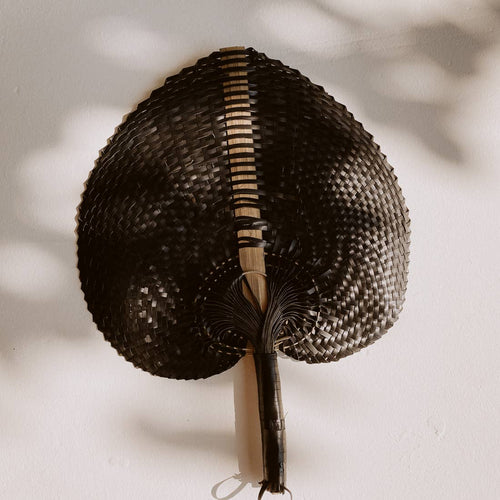 Village Thrive - Woven Paradisio Fan in Black - Small - home - Village Thrive - MOD&SOUL