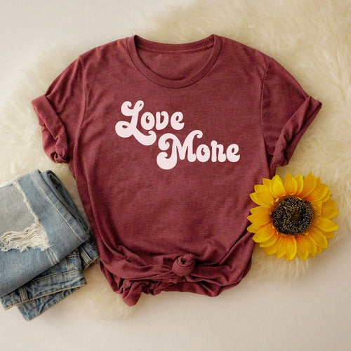Love More Graphic Tee - Top - The Funnel Cake Tree - MOD&SOUL