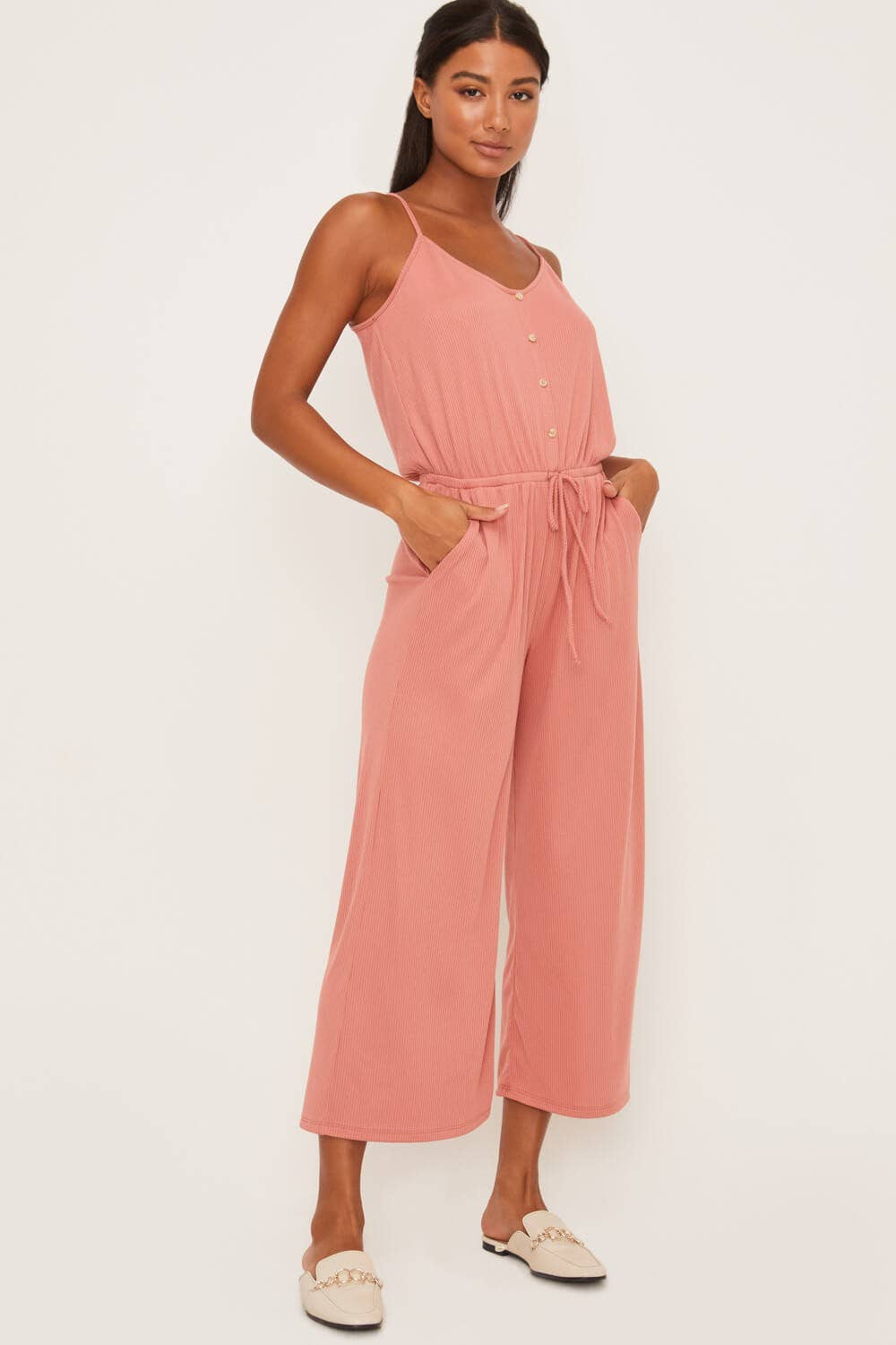 Drawstring Jumpsuit - Canyon Clay - Jumpsuit - LUSH CLOTHING - MOD&SOUL