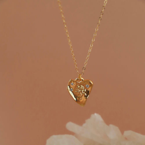 Lover's Heart Necklace - Necklace - Katie Waltman Jewelry - MOD&SOUL