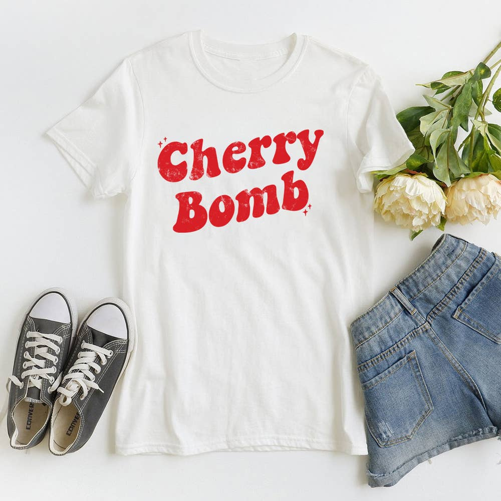 The Funnel Cake Tree - Cherry Bomb Graphic Tee - MOD&SOUL - Contemporary Women's Clothing