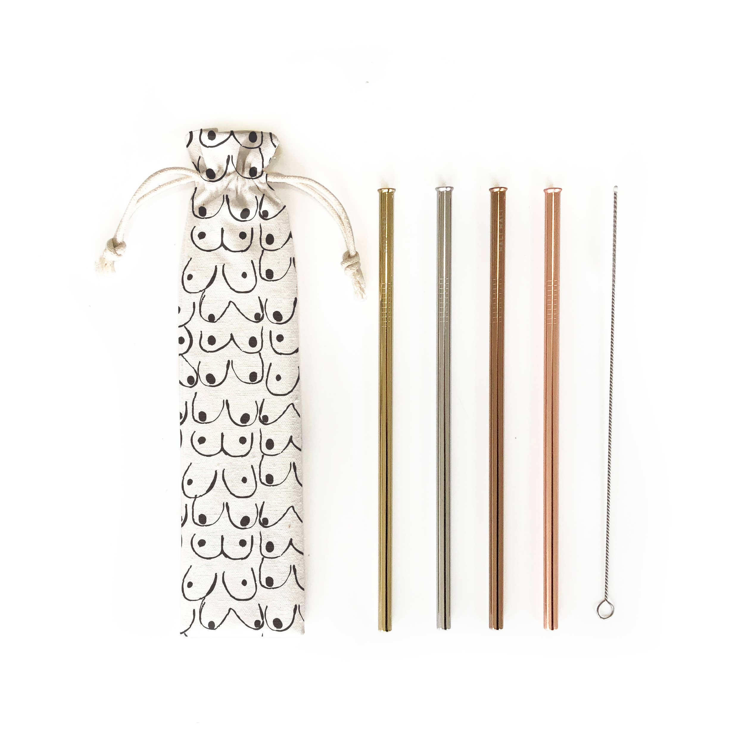 Hali Hali LLC - 6 pc Eco Friendly Reusable Straw Set - Love Yourself - home - Hali Hali LLC - MOD&SOUL