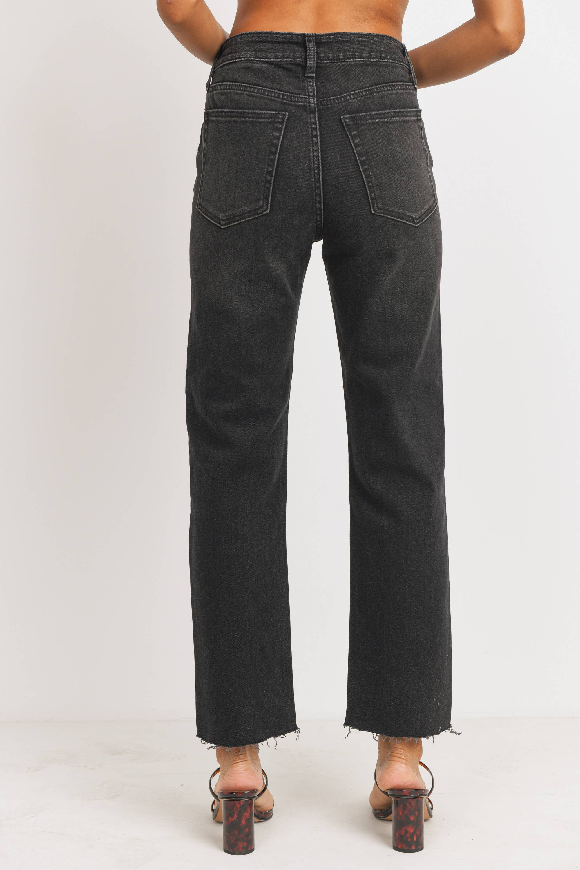 Cut Off Straight Leg Jeans - Bottom - JBD - MOD&SOUL
