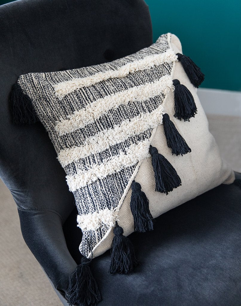 Bagru Throw Pillow - home - Bit of Meraki - MOD&SOUL
