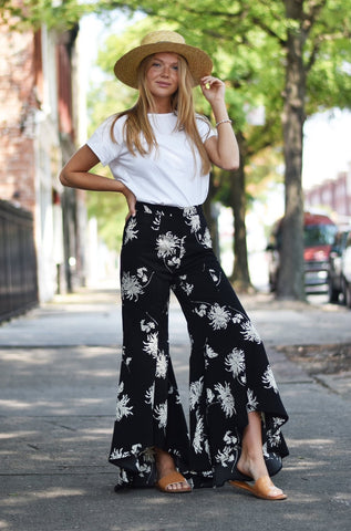 Abstract Print Satin Midi Skirt