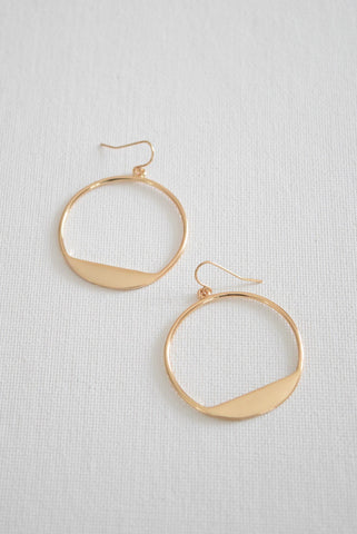 Mod + Jo - Acrylic Statement Earrings - Drew in Yellow Tail