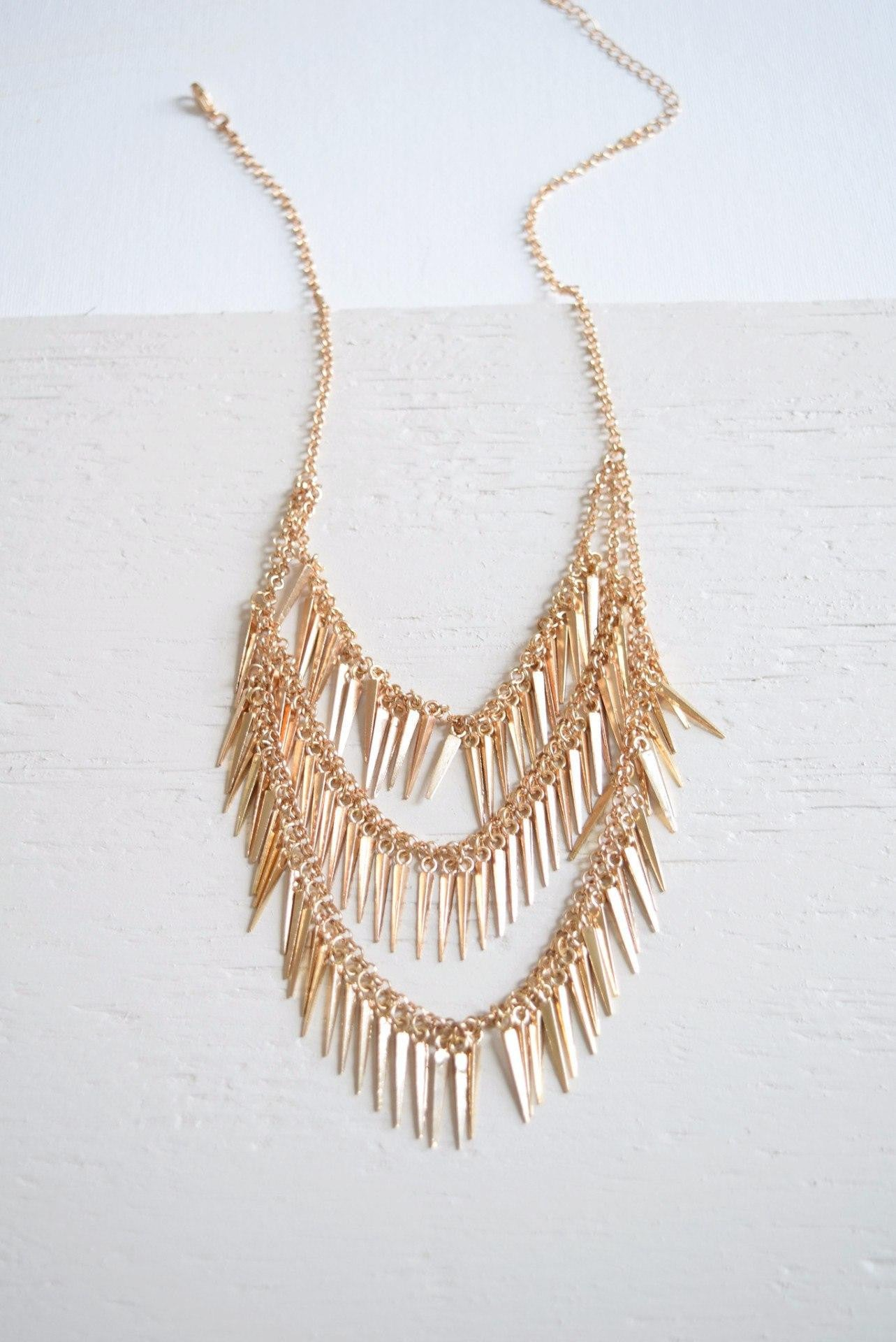 Layered Spikes Necklace - Necklace - MOD&SOUL Vintage Style Contemporary Fashion Jewelry - MOD&SOUL
