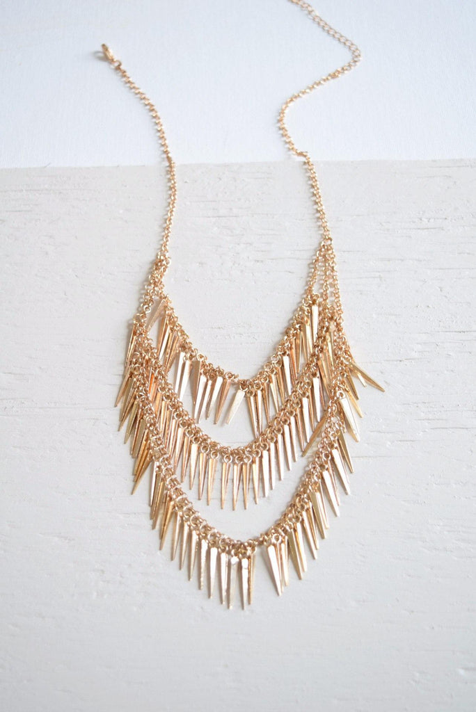 Layered Spikes Necklace