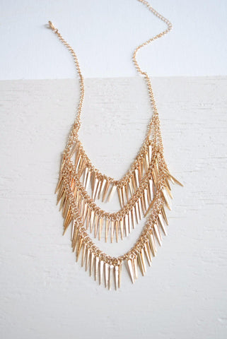 Glister Clay Tassel Necklace