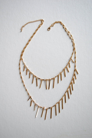 Maslo Jewelry Gold Tipping Point Necklace