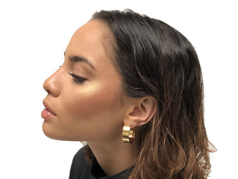 EnergynSoul Studio - Ali Hoop White Earrings