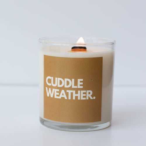 Cuddle Weather Wooden Wick Candle - Sugar And Grace - home - sugar and grace co - MOD&SOUL