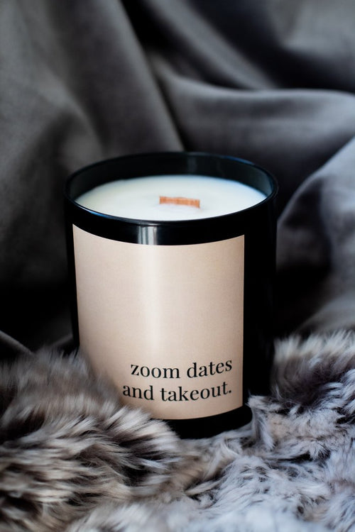 Zoom Dates and Takeout - Soy Candle - home - sugar and grace co - MOD&SOUL