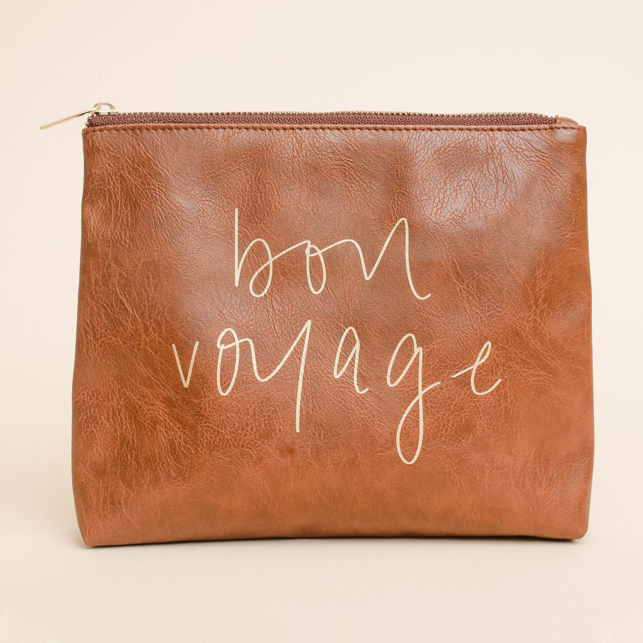 Bon Voyage Faux Leather Makeup Bag - accessory - Sweet Water Decor - MOD&SOUL