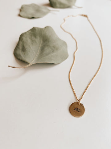 Katie Waltman Jewelry - Thin Brass Crescent Necklace