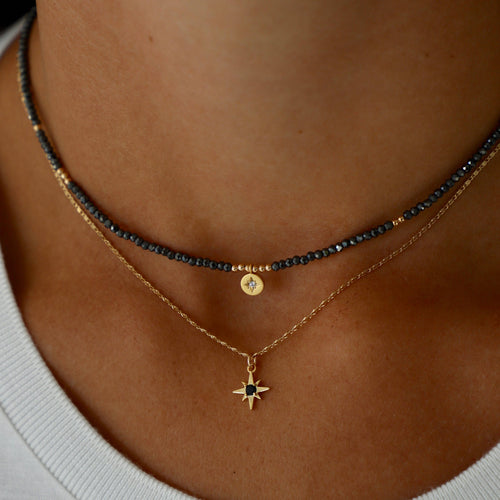 Katie Waltman Jewelry - Crystal Beaded Choker With Star Pendant - Necklace - Katie Waltman Jewelry - MOD&SOUL