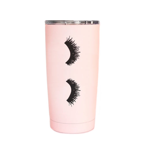 Eyelashes Pink Metal Travel Mug - home - Sweet Water Decor - MOD&SOUL
