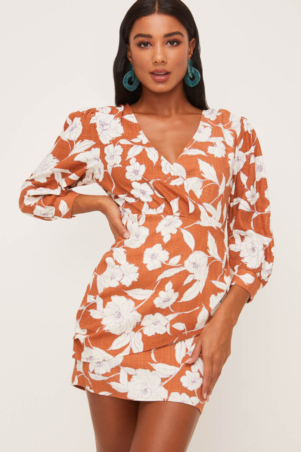 Floral Surplice Dress - Dress - LUSH CLOTHING - MOD&SOUL