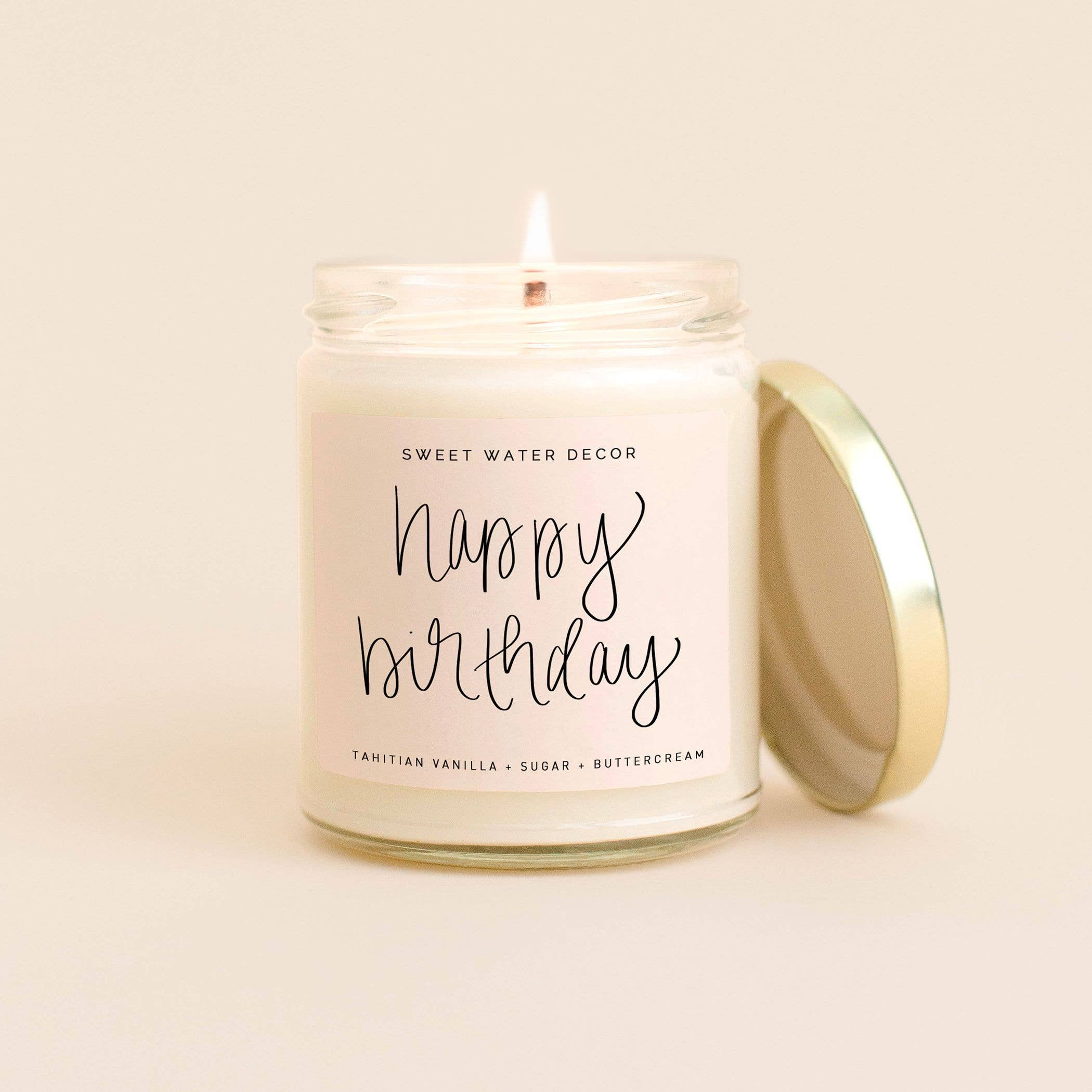Sweet Water Decor - Happy Birthday Soy Candle - MOD&SOUL - Contemporary Women's Clothing