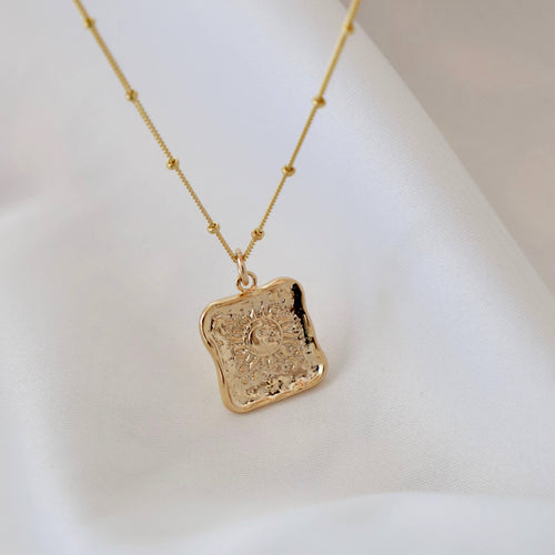 Katie Waltman Jewelry - Square Sun Medallion Necklace - Necklace - Katie Waltman Jewelry - MOD&SOUL