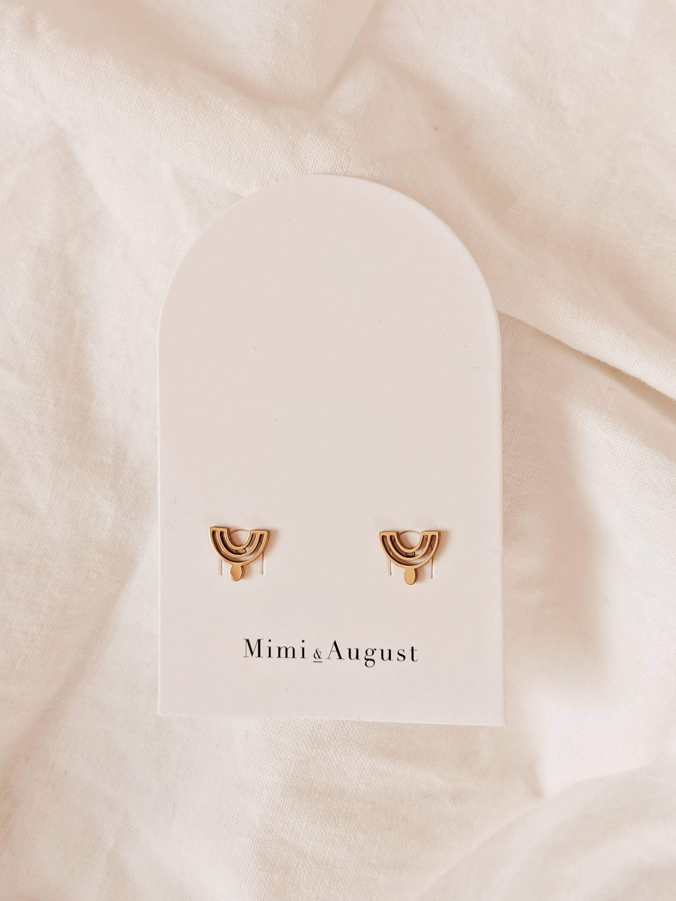 Mimi & August - Reverse Rainbow Stud Earrings - Earrings - Mimi & August - MOD&SOUL