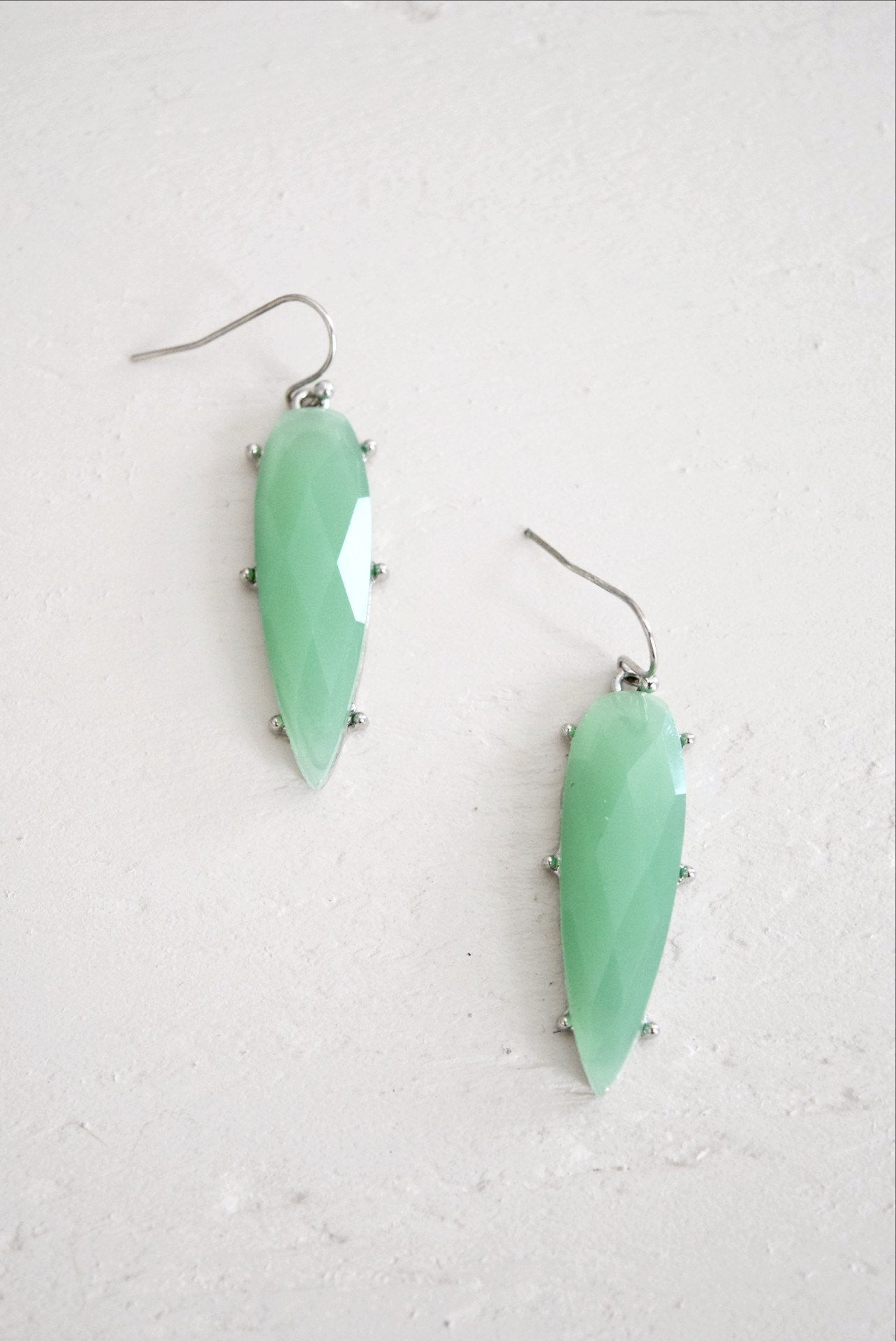 Green Crystal Drop Earrings - Earrings - MOD&SOUL Contemporary Women's Clothing and Jewelry - MOD&SOUL