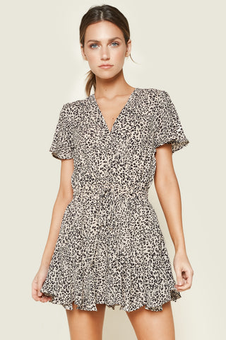 Mixed Polka Dot Print Romper
