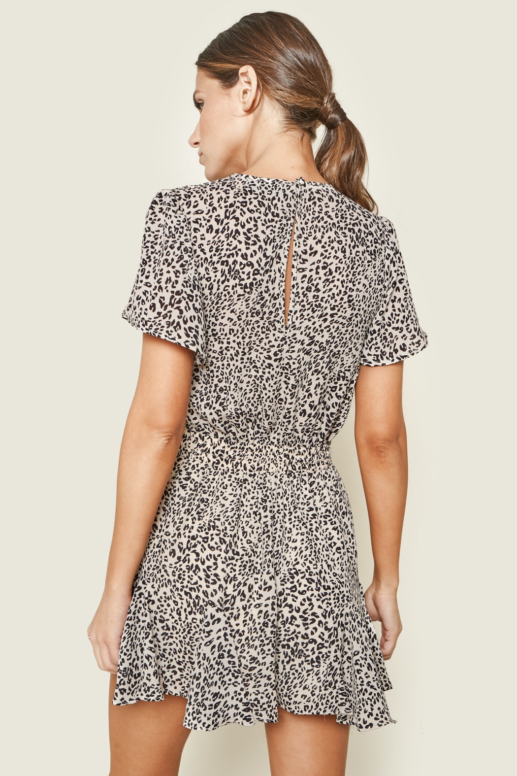 Lexi Drawstring Romper - Leopard Print - MOD&SOUL - Contemporary Women's Clothing