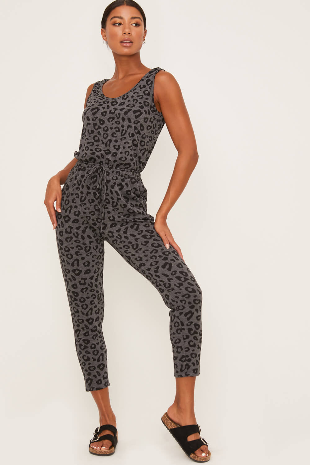 Leopard Sleeveless Jumpsuit - Jumpsuit - LUSH CLOTHING - MOD&SOUL