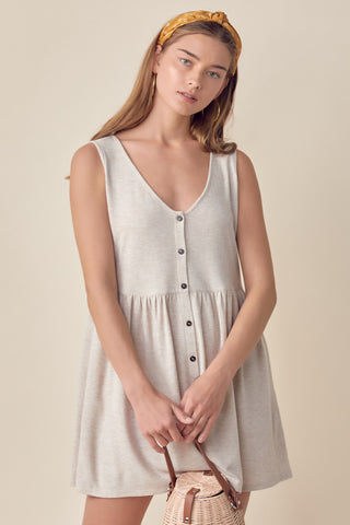 Short Sleeve Cream Jumpsuit