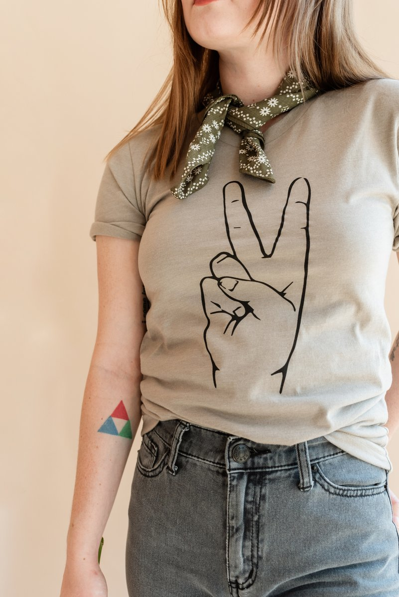Peace Adult Tee - Top - Polished Prints - MOD&SOUL