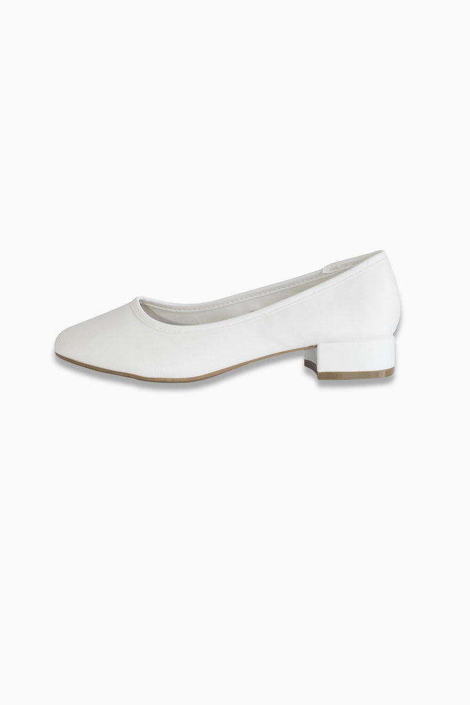 White Ballet Slip on Pump