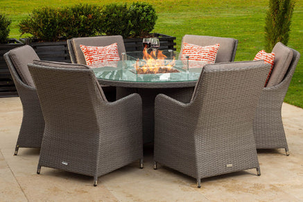 Gas Fire Pit Dining Garden Furniture Sets
