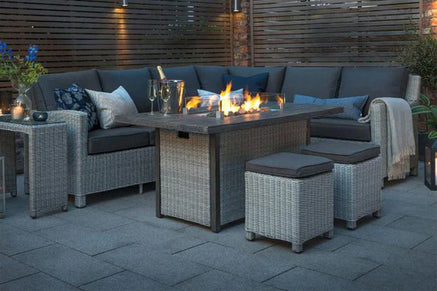Gas Fire Pit Corner Garden Furniture Sets